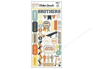 "Echo Park Paper Company Echo Park Sticker: Echo Park Sticker 6""x 12"" Brothers (15 sets)"