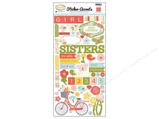 "Echo Park Paper Company Echo Park Sticker: Echo Park Sticker 6""x 12"" Sisters (15 sets)"
