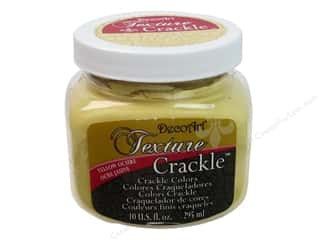 Clearance DecoArt Foam Paint 1oz: DecoArt Texture Crackle Yellow Ochre 10oz
