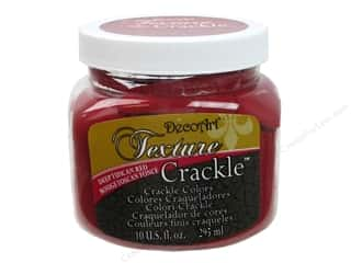 DecoArt Texture Crackle Deep Tuscan Red 10oz