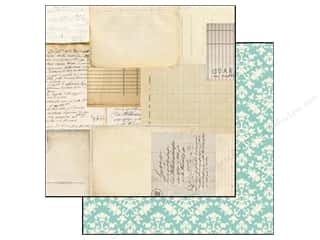 Scribbles inches: Carta Bella 12 x 12 in. Paper So Noted Script & Scribbles (25 pieces)