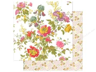 Anna Griffin Paper 12&quot;x 12&quot; Olivia Iris Floral Ivory (25 piece)
