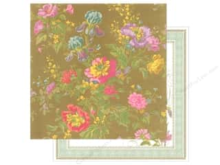 Anna Griffin Paper 12&quot;x 12&quot; Olivia Iris Floral Blue (25 piece)