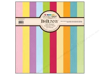 Blank Card & Envelopes: Bo Bunny Paper Collection Pack Double Dot Soft Shades