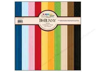 Blank Card & Envelopes: Bo Bunny Paper Collection Pack Double Dot Stripes