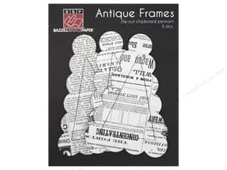 Bazzill embossed: Bazzill Chipboard Antique Frames 6 pc. Pennant