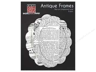 Bazzill glazed: Bazzill Chipboard Antique Frames 6 pc. Oval