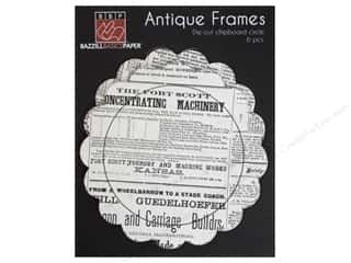 Bazzill embossed: Bazzill Chipboard Antique Frames 6 pc. Circle