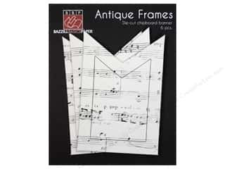 bazzill chipboard: Bazzill Chipboard Frames Antique Banner