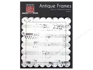 Bazzill Embossed: Bazzill Chipboard Antique Frames 6 pc. Square