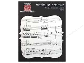 Bazzill 2 Sheets: Bazzill Chipboard Antique Frames 6 pc. Bracket