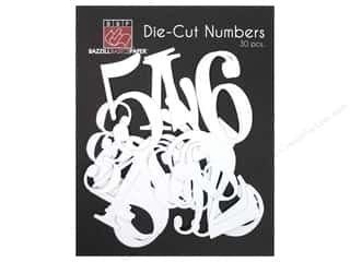 Bazzill Die Cut Numbers Bazzill White