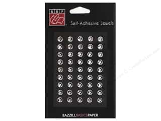 Bazzill jewels: Bazzill Adhesive Jewels 1/4 in. Clear 45 pc.