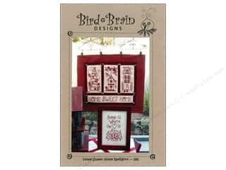"Bird Brain Design 4"": Bird Brain Designs Home Sweet Home RedWork Pattern"