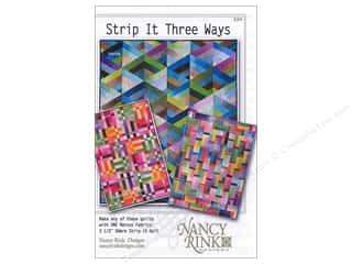 Quiltsillustrated.com Jelly Roll Patterns: Nancy Rink Designs Strip It Three Ways Pattern