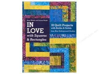 Workman Publishing $10 - $12: C&T Publishing In Love With Squares & Rectangles Book by Amy Walsh and Janine Burke