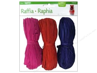 FloraCraft Raffia Purple/Red/Fuchsia 3 piece