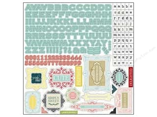 Carta Bella Borders: Carta Bella Sticker 12 x 12 in. So Noted Alphabet (15 sets)