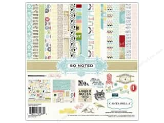 "alphabet stickers: Carta Bella Collection Kit 12""x 12"" So Noted"