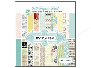 Carta Bella Paper Pad 6&quot;x 6&quot; So Noted