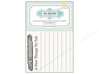 Note Cards paper dimensions: Carta Bella Journaling Cards So Noted