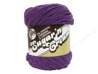 Sugar and Cream Black: Lily Sugar 'n Cream Yarn  2.5 oz. #1318 Black Currant