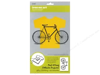 SEI Iron On Art Transfer Flocked Bicycle