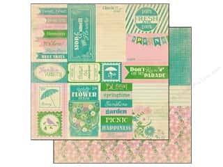 Spring Printed Cardstock: Authentique 12 x 12 in. Paper Seasons Spring Enhancement (25 piece)