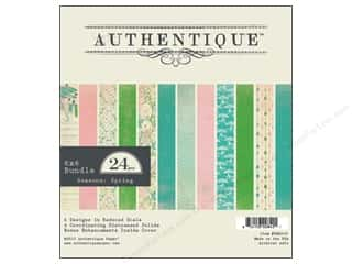 Spring Printed Cardstock: Authentique 6 x 6 in. Paper Bundle Spring 24 pc. (8 sheets)