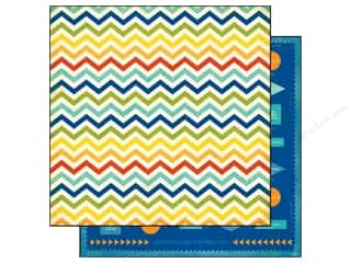 Echo Park 12 x 12 in. Paper Boy Chevron Stripe (25 piece)