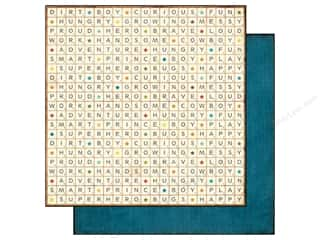 Echo Park 12 x 12 in. Paper All About A Boy Scrabble (25 piece)