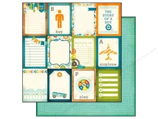 Echo Park 12 x 12 in. Paper About A Boy Journal Cards (25 piece)