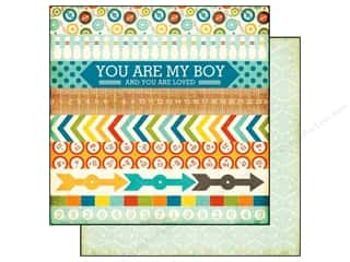 Toys Blue: Echo Park 12 x 12 in. Paper All About A Boy Collection Border Strips (25 pieces)