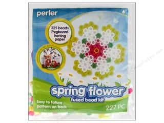 Beads Flowers: Perler Fused Bead Kit Trial Spring Flower