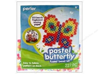 New Years Resolution Sale Kit: Perler Fused Bead Kit Trial Pastel Butterfly