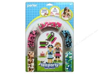 Party Supplies Green: Perler Fused Bead Kit Tea Party