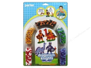 Weekly Specials Heat n Bond Ultra Hold Iron-on Adhesive: Perler Fused Bead Kit Dragons N Knights