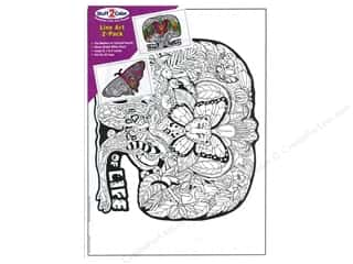 Stuff2Color Line Art Poster Tree of Life/Butterfly 2pc