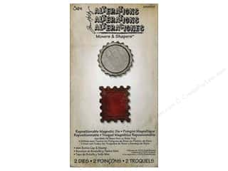 Sizzix Movers & Shapers Magnetic Die Set 2PK Mini Bottle Cap & Stamp