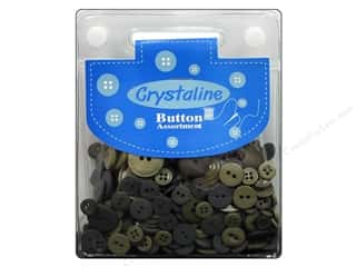 Dara Inc. Brown: Dara Crystaline Button Assortment Moss