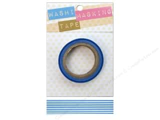 Darice Washi Masking Tape 5/8 8m White/Blue Stripe