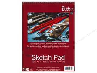Art, School & Office Art Accessories: Darice Art Accessories Studio 71 Sketch Pad 9 x 12 in. 50lb Spiral 100pc