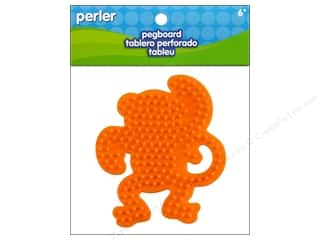 Perler Animals: Perler Pegboard Small Monkey
