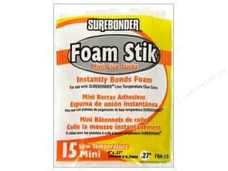 "Foam Hot: Surebonder Low Temperature Foam Glue Stick 4"" Mini 15pc"