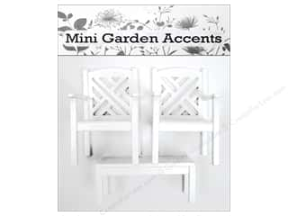 Gardening & Patio Craft & Hobbies: Sierra Pacific Decor Chairs & Coffee Table Set Mini Wood White