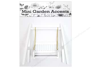 Sierra Pacific Decor Mini Wooden Swing White