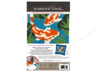 dimensions felt: Dimensions Needle Felting Art 10 x 8 in. Koi