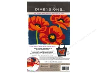 Leisure Arts Yarn & Needlework: Dimensions Needle Felting Art Kit 10 x 8 in. Poppies