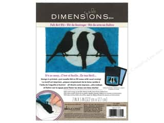 Felting Crafting Kits: Dimensions Needle Felting Art Kit 7 x 5 in. Birds