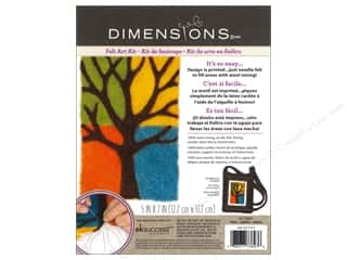 Felting Crafting Kits: Dimensions Needle Felting Art Kit 5 x 7 in. Tree